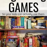 organizing games efficiently