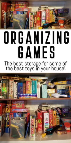organize games and puzzles