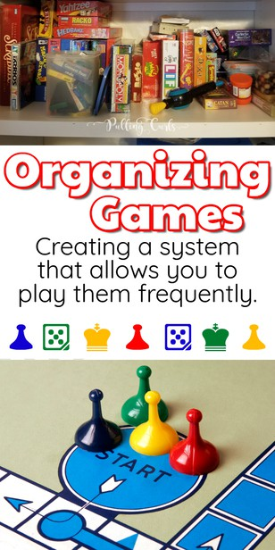 Games are AWESOME -- but in a kid's eyes, the way we store them often makes them hard to get out and put away (without getting yelled out) -- but our system makes it SO much easier!
