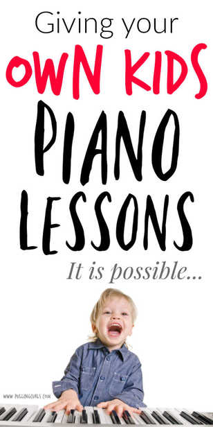 Teaching your own kids piano is different than teaching any other child. but it CAN save a lot of money -- here are some things to consider. #piano #pianoteacher #motherhood #MomHacker via @pullingcurls
