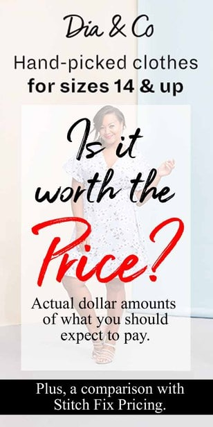 How much is Dia and Co a month?  What are the prices of the items, how much is a full box and how are returns?  How does all of that compare to Stitch Fix Pricing? via @pullingcurls
