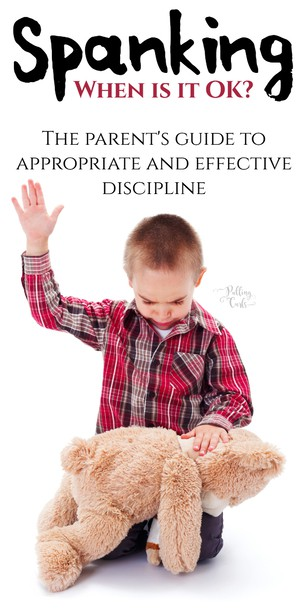 How to spank a child.  Spanking has gotten a bad rap in the past few years, even though for a lot of us, it was our parent's discipline of choice. #parenting #discipline