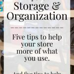 Storage and Organizing
