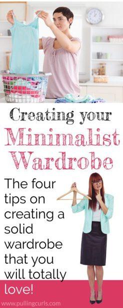 creating a minimalist wardrobe