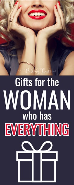 Looking for gift ideas for who have everything? -- Even if they're 50 or 60 there are still PLENTY of things they want or don't know they want. #gifts #women #christmas #mothersday #giftguide #present #womanwhohaseverything #mom via @pullingcurls
