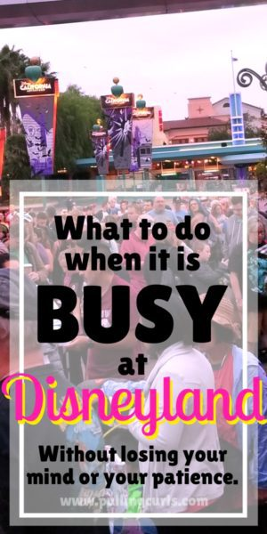 big crowds on a busy day at Disneyland