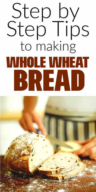 How to make whole wheat bread at home via @pullingcurls