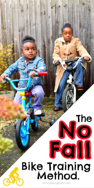 Teaching kids how to ride their bike without falling. via @pullingcurls