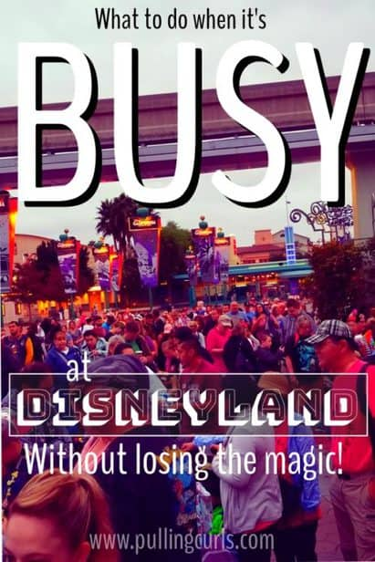 what to do on a busy day at Disneyland
