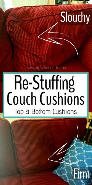 Having sagging couch cushions, that you can feel the springs under you? This post will teach you how to refresh both the top and bottom cushions, as well as to wash the cushion fabric. via @pullingcurls