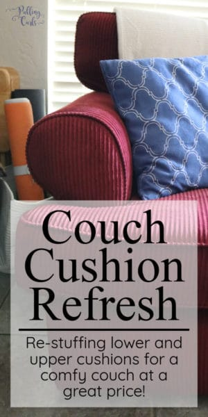 replacing your couch cushion's foam
