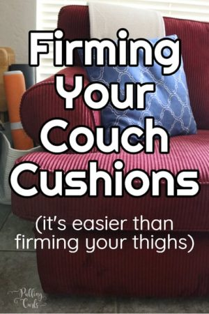 How to Restuff Couch Cusions:  Stuffing new life into your couch