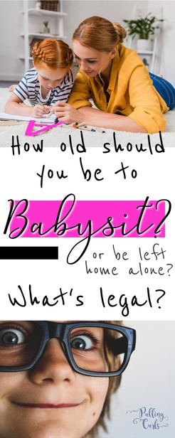 Figuring out how old a child has to be to babysit can be rough.  Plus, there is the issue of babysitting their OWN siblings at their own house, vs someone else's children.  Plus, what age can a child stay home alone? via @pullingcurls