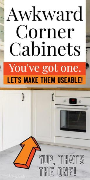 awkward corner cabinets