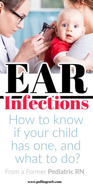 What does an ear infection feel like?  What are the symptoms in ear infections for babies?  We'll also talk about ear infections in adults.  What should you do and can essential oils help? #sick #babies #earinfection via @pullingcurls