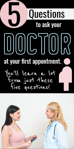 Your first pregnancy visit is an important one -- and these five questions will help you know if your doctor is the right fit for you and your growing family. via @pullingcurls