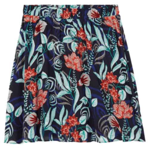 Ryan Wythe Orchid Elastic Waist A-Lin Skirt