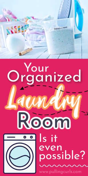 Laundry room organization / washing machine, dryer, household items. via @pullingcurls