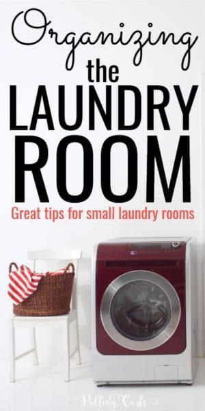 small laundry room organization tips