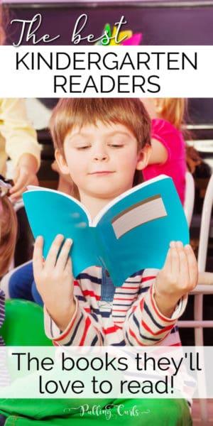 kindergartener reading
