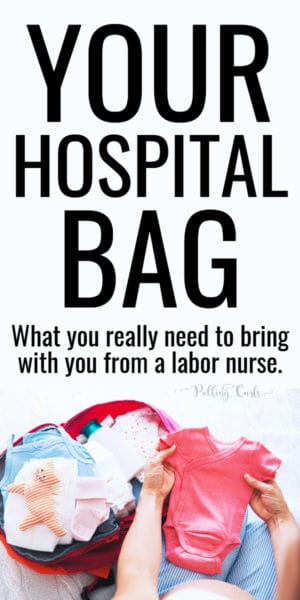 woman packing newborn hospital bag