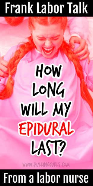 This 2nd article in my Epidural series -- this one talks about how long you can expect the epidural to last, how long it takes to wear off and when to get it so it lasts your whole labor. Needle, pros and cons, vs natural, labor, side effects, back pain relief, facts, birth, tips. via @pullingcurls