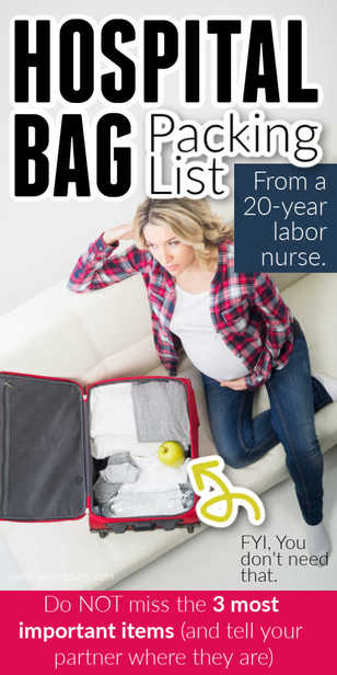 I LOVE this nurse's hospital packing list -- now I know just what to bring to have my baby! #pregnant #pregnancy #hospital via @pullingcurls