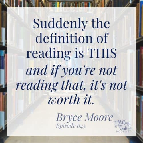 Suddenly, the definition of reading is THIS and if you're not reading that, it's not worth it.