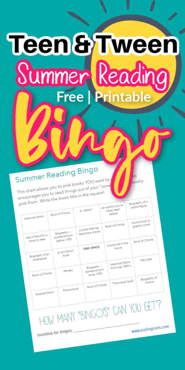 Teen Summer Reading Bingo via @pullingcurls