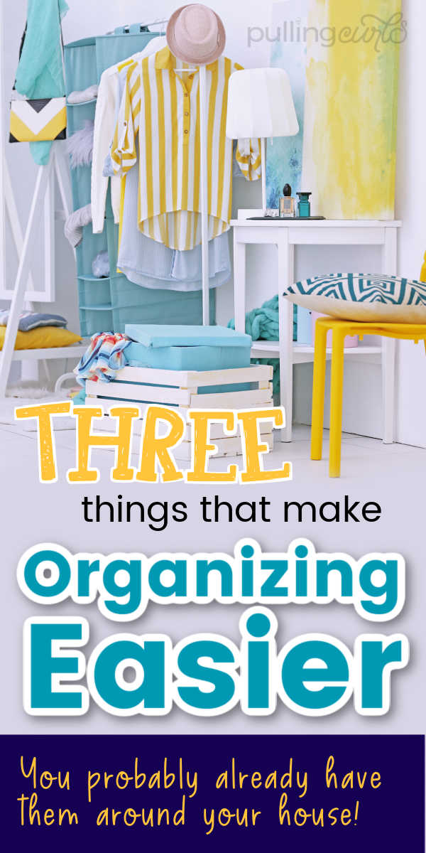Three things that make organizing easier -- a surface, some bins to organize and a cloth to create an easy, DIY organized finished product. via @pullingcurls